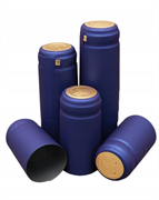 Термоколпачки для винных бутылок 32x40мм ГОЛУБЫЕ с отрывной верхней частью (100шт)