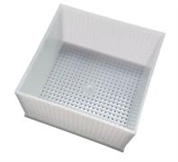 Форма для сыра квадратная перфорированная полимерная 120х120х58 мм