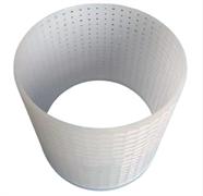 Форма для сыра цилиндрическая перфорированная полимерная без дна d100х120(114) мм