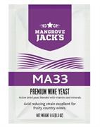 Винные дрожжи Mangrove Jack  - MA33 (для фруктовых белых и розовых вин, поглощают избыточную кислоту)