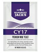 Винные дрожжи Mangrove Jack  CY17 для сладкого белого / розового и десертного вина из винограда и, особенно, из фруктов и цветов
