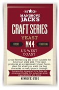 Дрожжи пивные «Mangrove Jack's — US West Coast M44», 10г (APA, American IPA, American Stout)