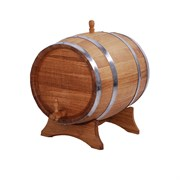 Бочка дубовая, 10(12) литров с подставкой (ЛД)