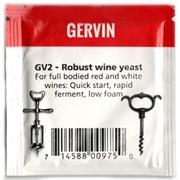 Винные дрожжи «Gervin — GV2 Robust Wine» для крепленых и насыщенных вин, 5 гр
