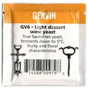 Винные дрожжи «Gervin-GV6 Light Dessert Wine» для легких десертных вин, 5 гр