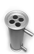 """Дефлегматор кожухотрубный 2"""" (увеличенный, 20 см) 4 трубки, (Доктор Градус)"""
