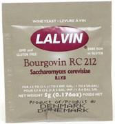 Дрожжи винные Lalvin Bourgovin RC212, 5 грамм (для приготовления лёгких красных вин из фруктов и ягод)