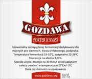 Пивные дрожжи «Gozdawa Porter & Kvass (POKV)», 10 гр(Портер, Специальное пиво, Квас, Темный Эль)