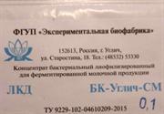 Закваска БК-Углич-СМ, 0,1 ЕА (для сметаны и кислосливочного масла), на 5-30 литров